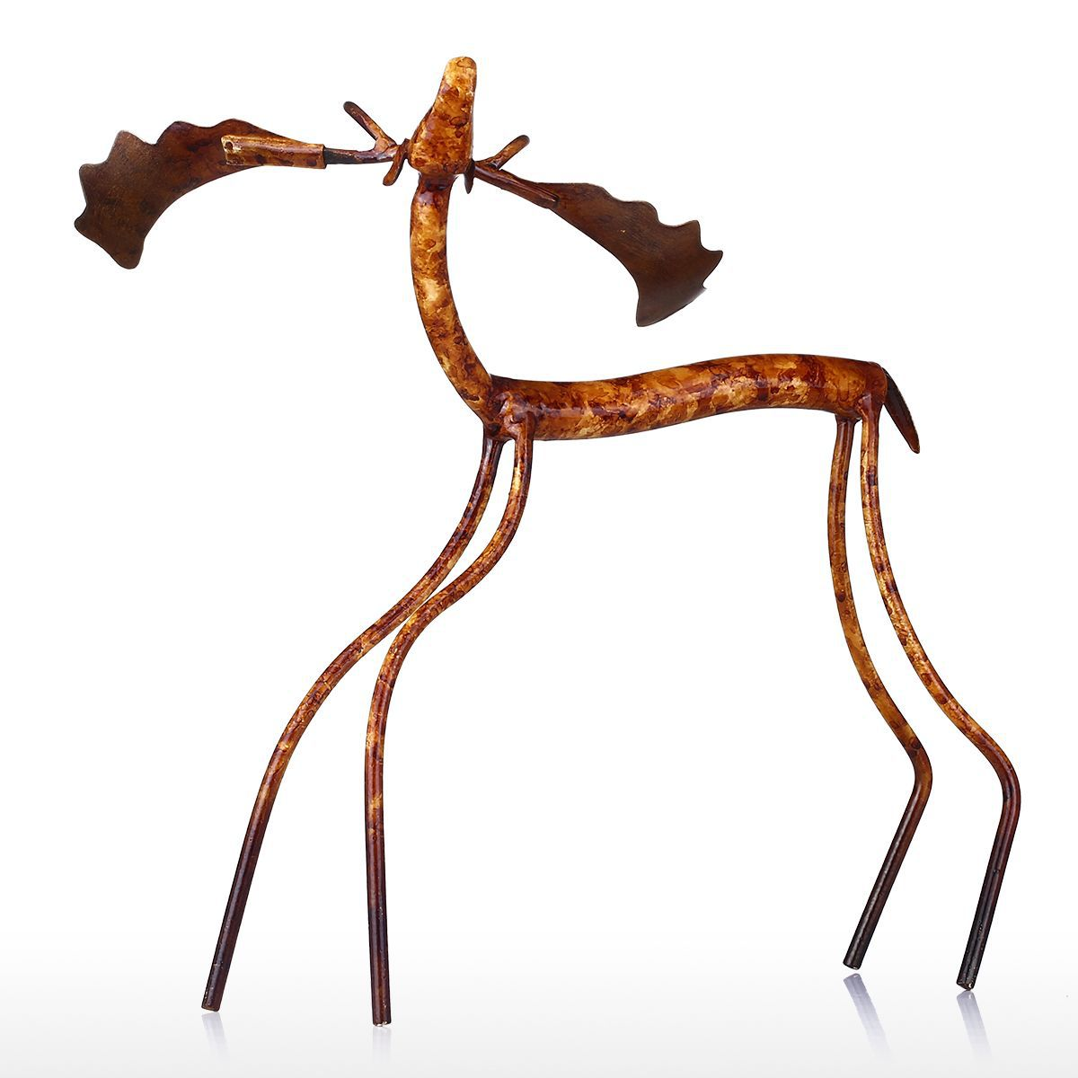 Bow Head Moose Iron Figurine Home Decor Mediterranean Metal Animal Rhaliexpress: Moose Figurines In Home Decor At Home Improvement Advice