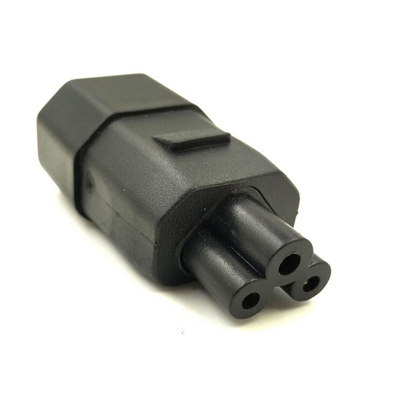 LBSC 3 Prong Plug Adapter, IEC 320 C14 3 Pin Male To C5 Female Receptacle Laptop Printer Power Adatper Connector Converter (C5) steel casing pipe