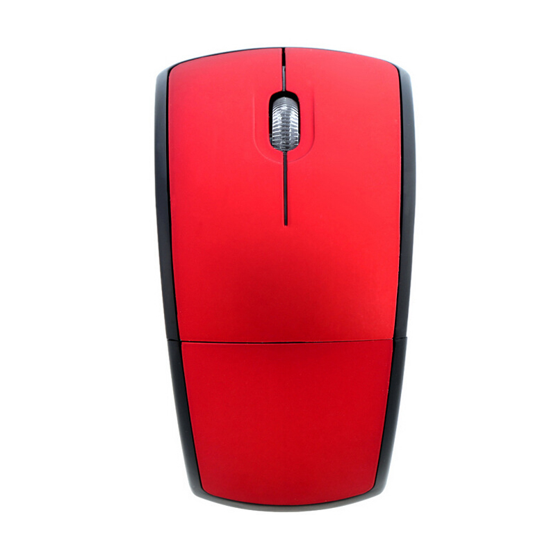 New optical mouse foldable wireless mouse light arc shaped gaming mouse for pc laptop-in Mice from Computer & Office
