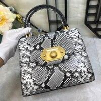 2019 новая дизайнерская брендовая сумка на плечо женская модная змеиная кожа Tassen крокодиловая роскошная сумка женские Сумки Дизайнерская До