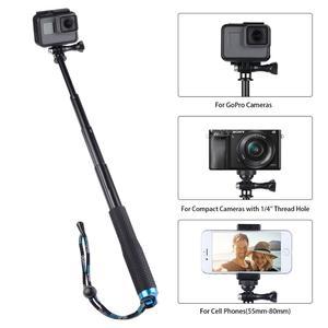 Монопод для селфи, 36 дюймов, для GoPro Hero 6 5 7 4, черный, серебристый, Sjcam Sj7 SJ4000 Eken Yi 4K, для экшн-камеры DJI Osmo