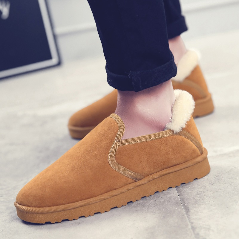 HOT Sale Autumn Winter Casual Snow Boots Men  Ankle Boots Flat Fashion Man Winter Shoes Big Size 44