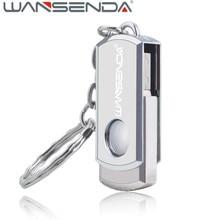 Wansenda Металл USB Flash Drive 128 ГБ нержавеющей стали Pen Drive 4 ГБ 8 ГБ 16 ГБ 32 ГБ 64 ГБ флэш-диск USB 2.0 pendrive Memory Stick