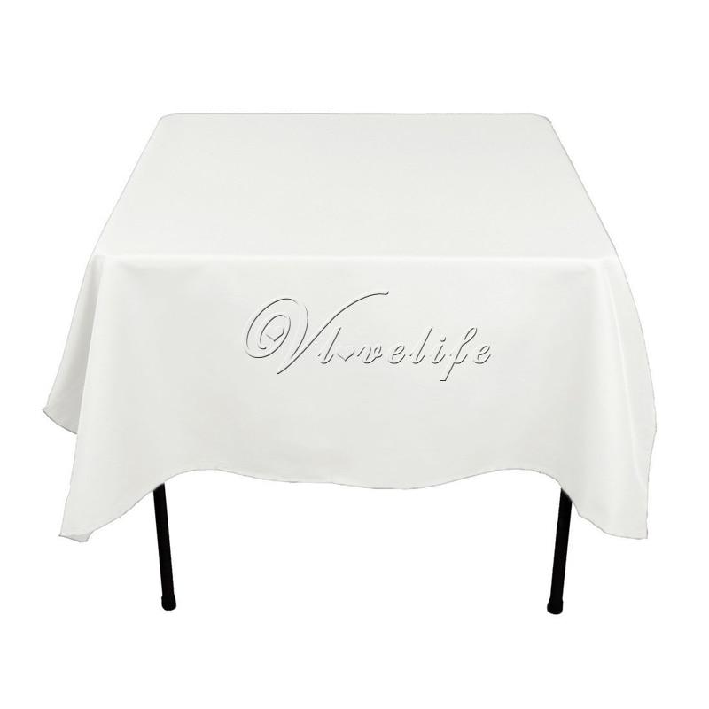 100% Filé Polyester Blanc Nappe 90