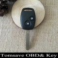 Original Size 2 Buttons Remote Ignition Key For Honda Jazz FIT With ID48/ID8E Electronic Chip 315Mhz Car Alarm Keyless Entry Fob