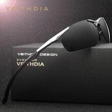 Vintag veithdia aluminio magnesio hombres gafas de sol de diseñador de la marca gafas de sol polarizadas masculinas gafas de sol gafas de sol hombre