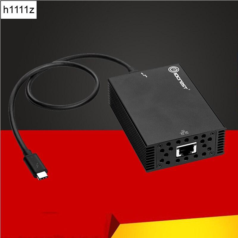 USB C адаптера Ethernet USB3.1 Тип C Thunderbolt 3 сетевой карты RJ45 Lan Intel Чипсет 10 Gigabit Ethernet для Windows Mac OS