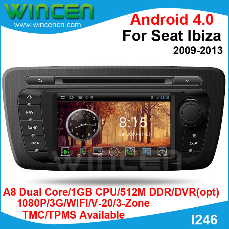 buy s150 android 4 0 car dvd gps player for seat ibiza 2009 2013 car audio gps. Black Bedroom Furniture Sets. Home Design Ideas