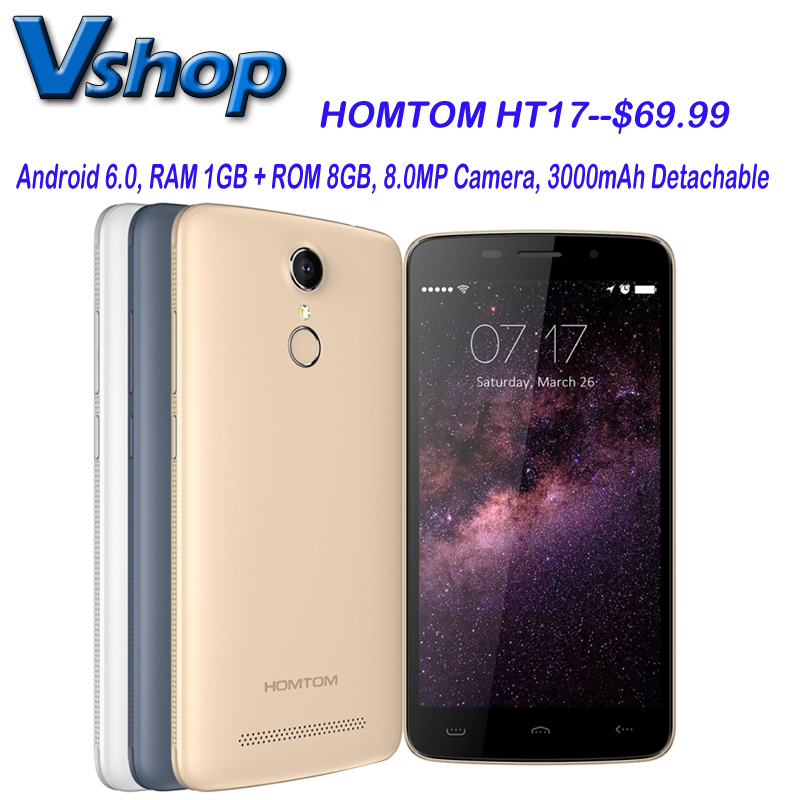 Homtom HT17 Android 6 0 5 5 inch 4G LTE CellPhone RAM 1GB ROM 8GB Quad