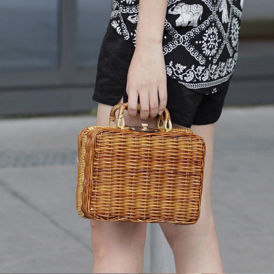 Paglia Di Valigia E Scatole Giardino Coreana fatto 2018 Bambù A Borse Sacchetto Style Versione Moda Rattan Mano 1 Tessuto EwAY16q