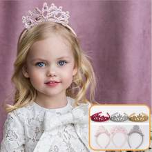 Costume tiara princess crown head hoop party hair accessories for girls kids rhinestone pearl flower star hairband headwear(China)