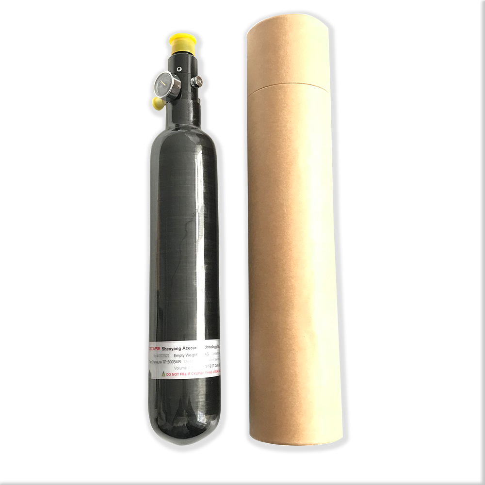 AC303561 0.35L High Pressure Composite Air Cylinder PCP Rifle Airsoft Air Guns Paintball Tank 350cc Carbon Bottle Acecare