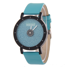 Luxury Bling Dial Candy Fashion PU Leather Young Style Quartz Gold Black Hot Pink Wristwatches Watches for Women Girls Students