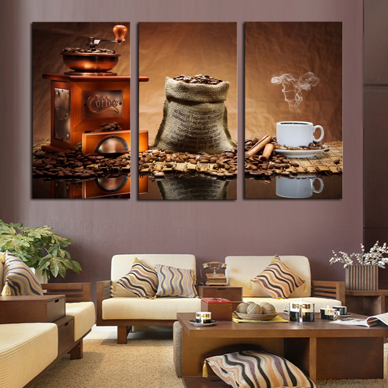 triptych-Coffee-HD-print-canvas-oil-painting-murals-modern-art-Movie-poster-Home-Decoration-kids-room