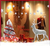 2016 Large Merry Christmas Tree Wall Decals Quote Removable Xmas Santa Claus Reindeer Wall Stickers Home