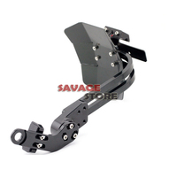 Motorcycle CNC Aluminum Mudguard Rear Fender Bracket License Plate Holder Light For YAMAHA MT25 MT03 MT