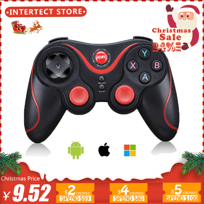 Inalámbrico controlador de juegos Bluetooth 3,0 Terios T3/X3 para PS3/Android Smartphone Tablet PC con TV caja titular t3 + Gamepad