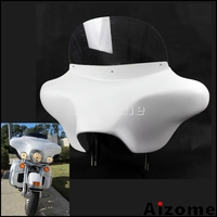 Motorcycle Detachable Batwing Fairing 6x9 Speaker Batwing Fairing For Harley Road King Screamin Eagle 1994 2013 Front Fairing