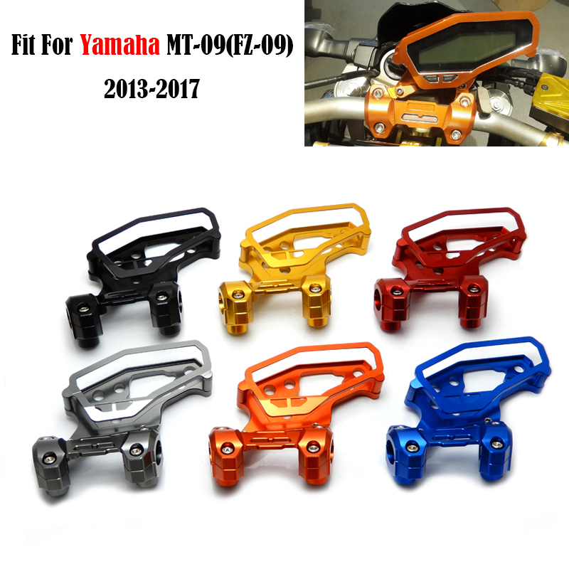 For Yamaha MT 09 FZ 09 MT 09 2017 MT09 2013 2017 Speedometer Cover Case with Handlebar Fat Bar Risers Mount Clamp MT09 2017