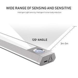 Image 3 - Światło na czujnik ruchu Led inteligentna lampa oświetlenie podszafkowe trzy kolory temperatura trzy tryby oświetlenie do szafki szafa kuchnia