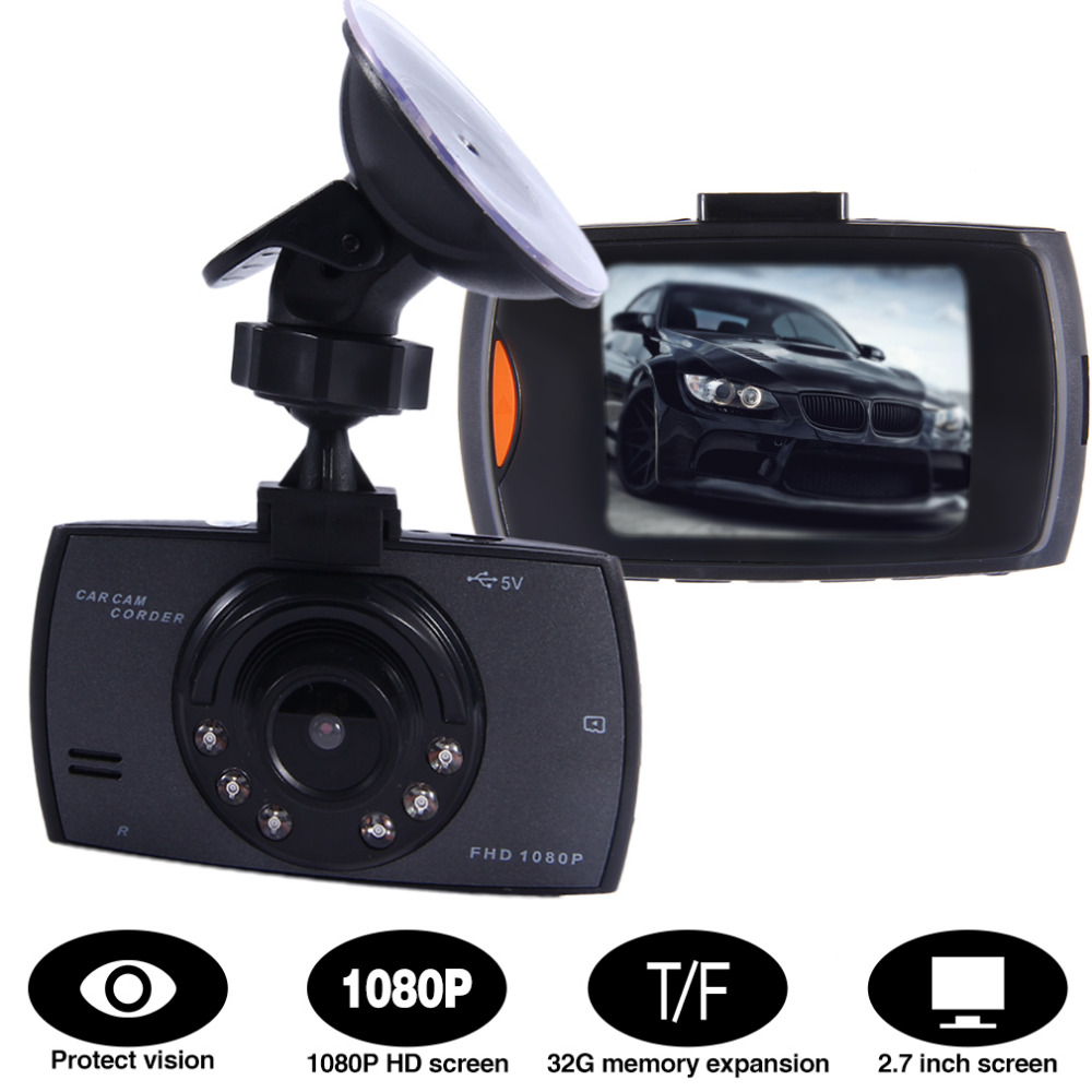 New Arrive 2.7 Inch 1080P LCD Screen HD Car Dash Cam DVR Video Recorder Support Night Vision Camera Tachograph G-sensor Function