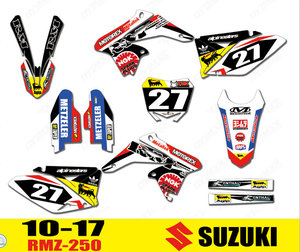 Motorcycle bike Graphics Stickers Background Decals For Suzuki RMZ250 RMZ 250 2010 2011 2012 2013 2014 2015 2016 2017 2018
