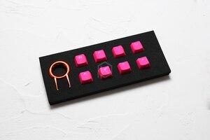 Image 5 - Taihao المطاط الألعاب Keycap مجموعة من المطاط Doubleshot المفاتيح الكرز MX OEM الشخصي تألق من خلال مجموعة من 8 أرجواني أزرق فاتح