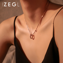 ZEGL Europe and America simple love pendant necklace