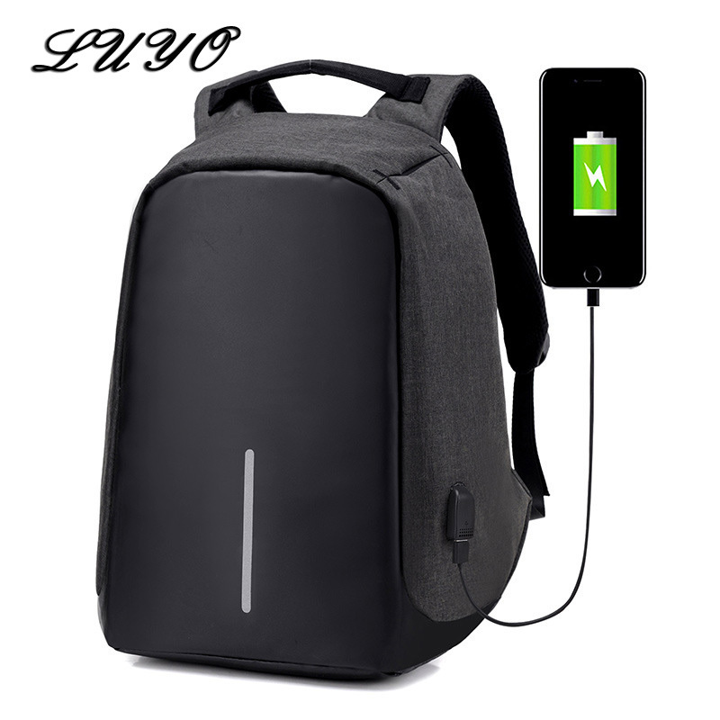 font b Best b font Anti theft USB Charging Men 15 Inches Computer Laptop Backpacks