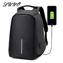 Finest Anti-theft USB Charging Men 15 Inches Computer Laptop Backpacks Large Capacity Travel Bag For Teenagers School Mochila
