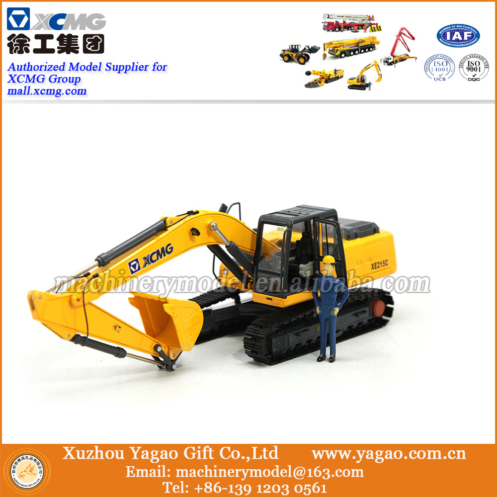 1:35 Scale Model, Diecast Toy, Construction Model, Business Gift, Souvenir, Replica, XCMG XE215C Excavator Model 1 35 xcmg benz construction mounted concre truck diecast metal construction vehicles toy
