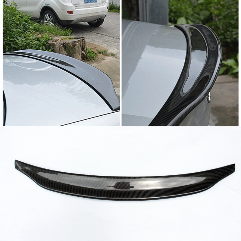 Car Styling Carbon Fiber Rear Spoiler Tail Trunk Wing Boot Lip Wing Auto Parts For Audi A4 B8 Sedan 4Doors 2009 2010 2011 2012 pu rear wing spoiler for audi 2010 2011 2012 auto car boot lip wing spoiler unpainted grey primer