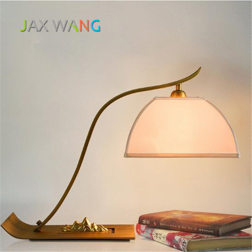 Modern Chinese Style LED E27 Table Lamps Iron Glass Table ...