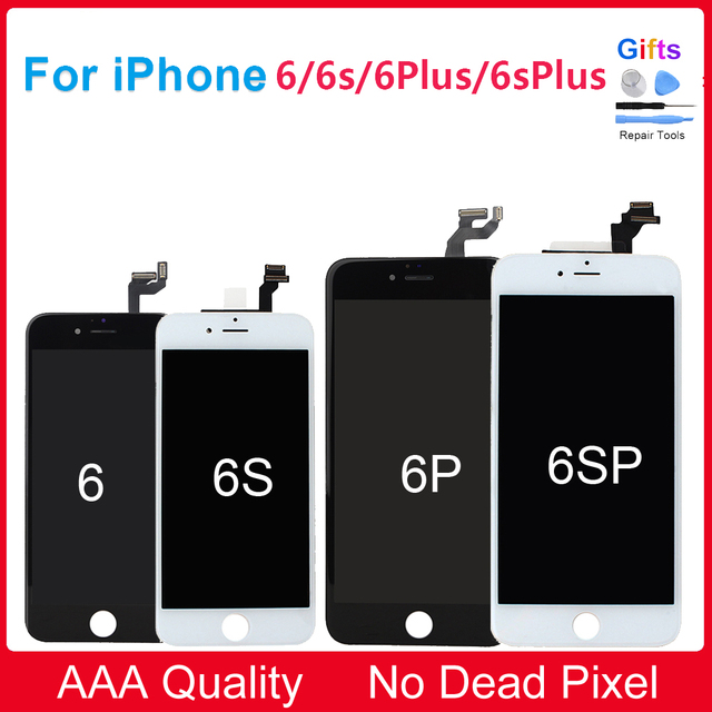 promo code 93f39 c02b5 US $17.39 |A+++ Quality LCD for iPhone 6 6S LCD Display Touch Screen  Digitizer Assembly Replacement For iPhone 6 Plus 6S Plus LCD Screen-in  Mobile ...