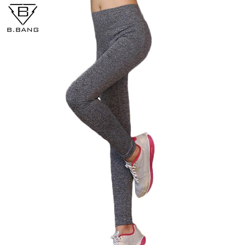 Prix pour B. BANG Femmes Sport Yoga Pantalon Fitness Sport Collants pour Femme Élastique Gym Courir Leggings calzas deportivas mujer fitness