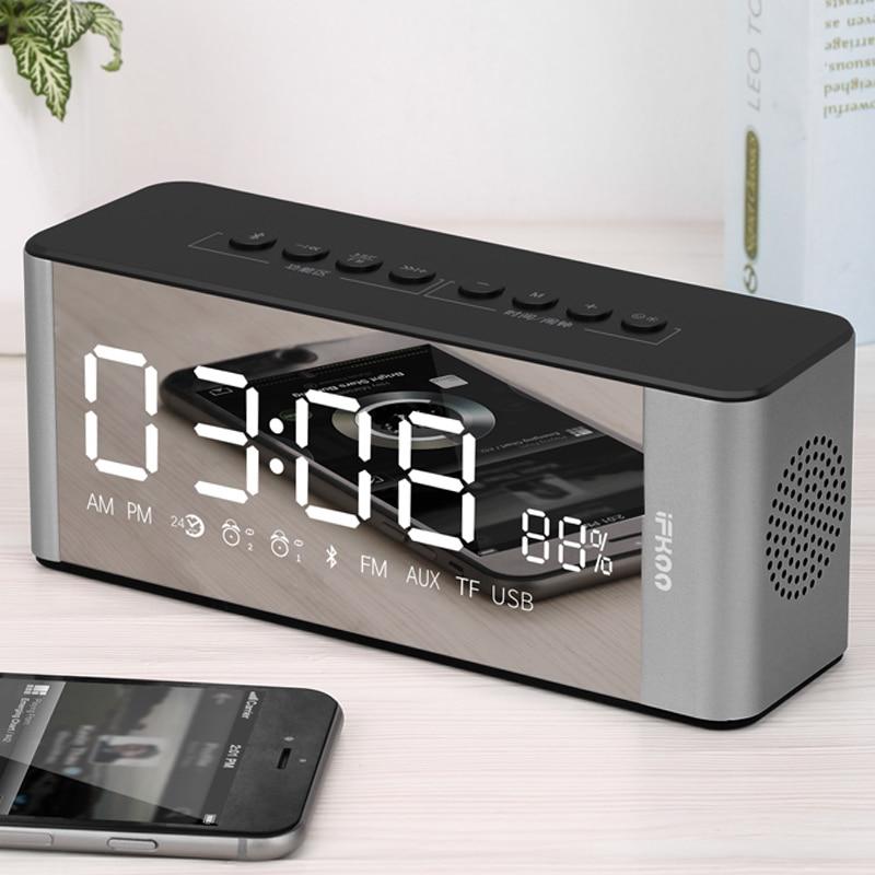 Office Table Wake Up Projector Clock Stereo Mini Stereo Hygrometer Temperature Meter Student LCD Alarm Clock Backlight Desktop