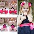 2pcs/lot children baby girls hair accessories clip hairpins barrettes headwear flower cat ears hairpin