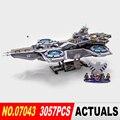 LEPIN 07043 3057 unids Super Heroes El ESCUDO Helicarrier Modelo Kits de Construcción de Juguetes de Bloques de Ladrillos Muchacho Compatible 76042