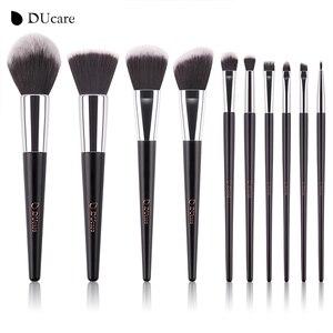 Image 3 - DUcareแปรงแต่งหน้า10PcsคุณภาพสูงชุดแปรงProfessional Make Upแปรงสีดำกระเป๋าความงามEssentialแปรง