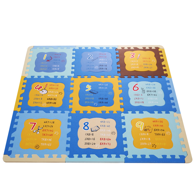 9Pcs Multiplication Math Baby EVA Soft Foam Puzzle Play Mat For Children  Kids Game Rug Educational Sport Crawling Mats Carpet In Play Mats From Toys  ...