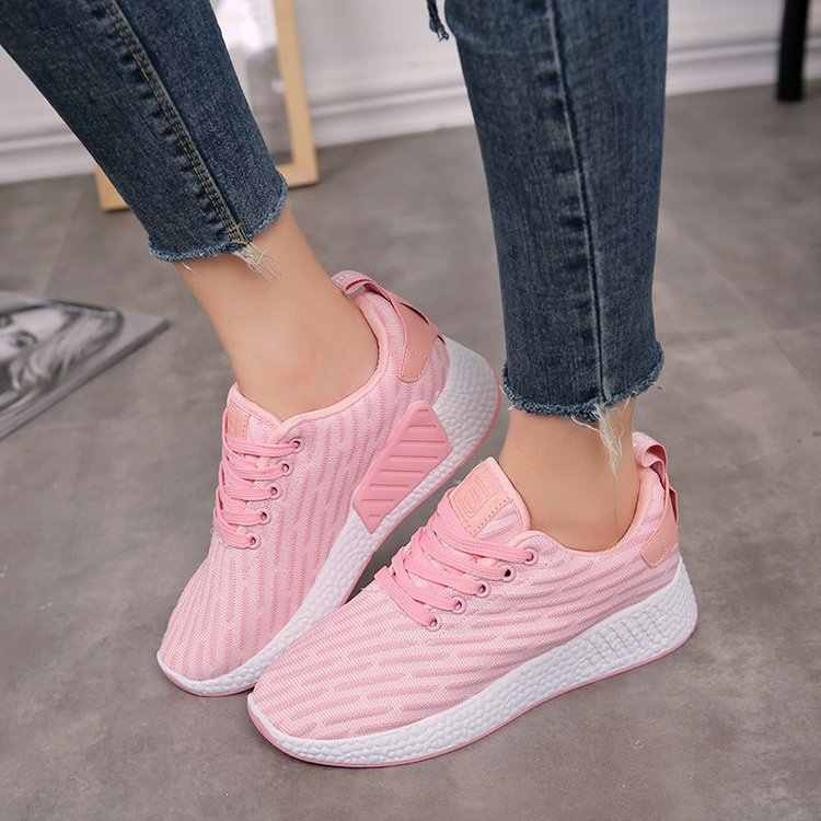 bcefbe762 Женские ботинки обувь 2018 Модная молодежная дышащие весенние брендовые  кроссовки удобные легкие повседневная обувь