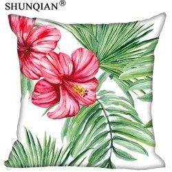 New Arrive Tropical rainforest style poszewka na poduszkę niestandardowy własny obraz poszewki na poduszki home gift bawełniana poszewka na poduszkę większy rozmiar