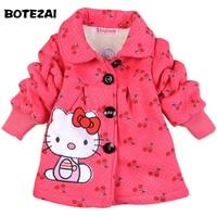 In Stock 2014 Fashion Children S Coats Girls Hello Kitty Winter Warm Coat Children Cotton Jacket