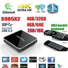 H96 Max X2 S905X2 en stock uad Core 4GB DDR3 32GB caja de tv Android 9,0 de 2,4G 5G WiFi USB3.0 100M LAN 2,1(China)