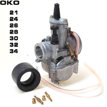 2T 4T Universal oko Motorcycle Carburetor Carburador 21 24 26 28 30 32 34mm With Power Jet For Racing Moto alconstar keihin koso oko motorcycle carburetor carburador 28 30 32 34mm with power jet for atv off road dirt pit bike racing