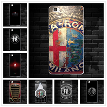 Soft TPU Cell Phone Case for Huawei P8 P9 P10 P20 Lite Mate 10 Pro Y5 Y6 Y3 II Honor 6X 7X 9 Lite Hot Car Alfa Romeo Logo Design(China)
