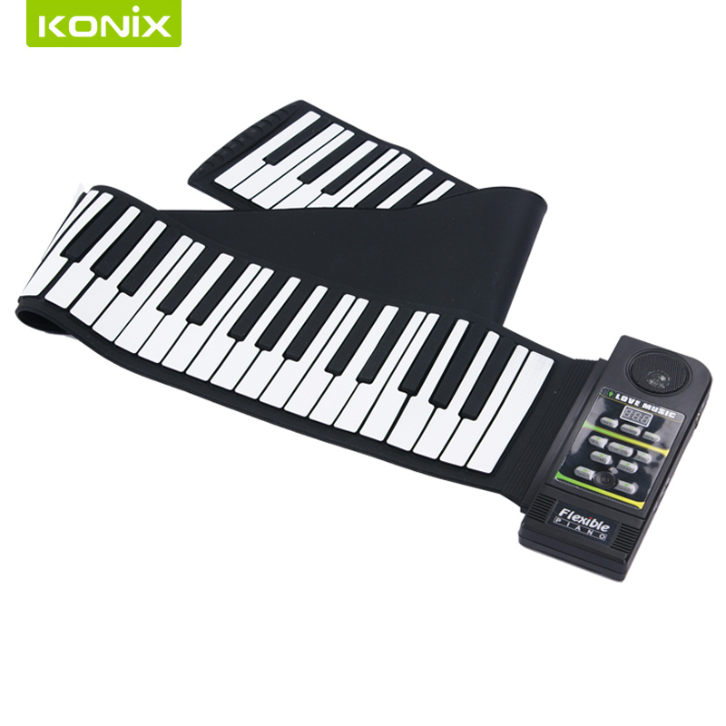 88  keys  portable digital keyboard  and  sustain pedal  of  soft  mini  roll  up  piano cherub wtb 004 piano foot pedal low noise switchable sustain pedal cable for casio for yamaha for keyboard piano