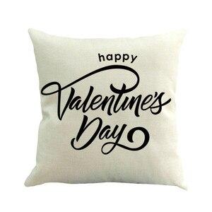 Image 4 - 2019 последняя горячая Распродажа INS styleHappy Valentine наволочки льняные чехлы для диванов наволочки для домашнего декора наволочки