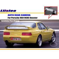 Liislee samochód kamera tylna dla Porsche 968 968C Boxster/z powrotem kamera parkowania/HD CCD RCA ntsc PAL/tablicy rejestracyjnej kamera światła w Kamery pojazdowe od Samochody i motocykle na