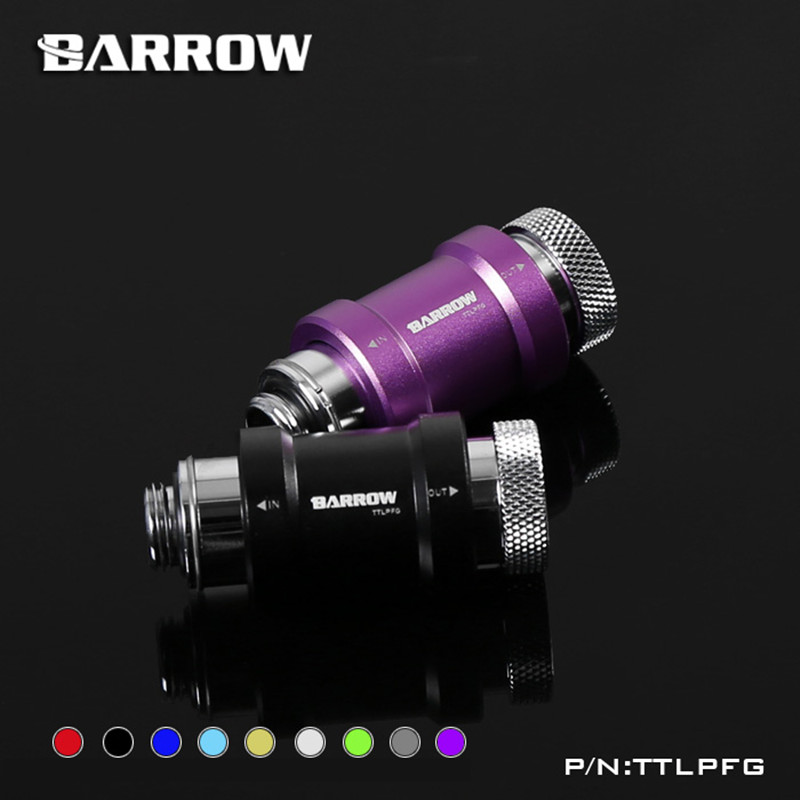 Barrow Flat Push Type Check Valve Male To Female Single-tooth Hand Stop Valve Silver Or Black 9 Colors TTLPFG